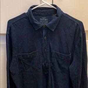 J.Crew Indigo Blue Collared Shirt. VERY SOFT!